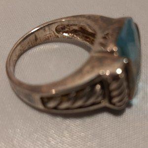 Designer Inspired Jewelry - Designer Inspired Blue Topaz Sterling Silver 6
